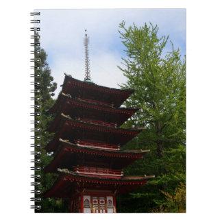 San Francisco Japanese Tea Garden Pagoda Notebook