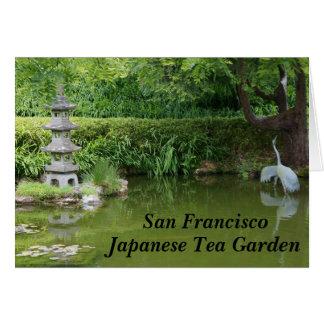 San Francisco Japanese Tea Garden Pond #2 Card