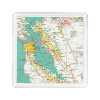 San Francisco Map Acrylic Tray