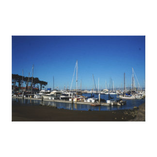 San Francisco Marina Yacht Harbor Canvas