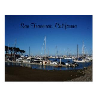 San Francisco Marina Yacht Harbor Postcard