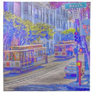 San Francisco neon Cloth Napkin