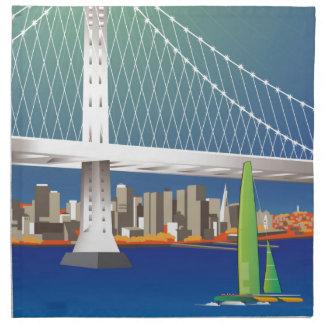 San Francisco New Oakland Bay Bridge Cityscape Napkin