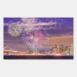 San Francisco New Year Fireworks Sticker