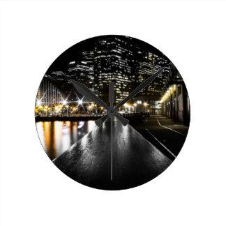 San Francisco Night Round Clock