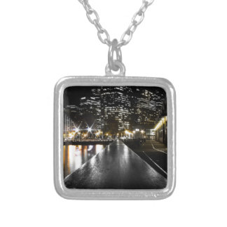 San Francisco Night Silver Plated Necklace