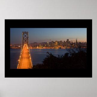 San Francisco Nightfall Poster