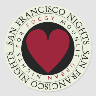 San Francisco Nights Classic Round Sticker