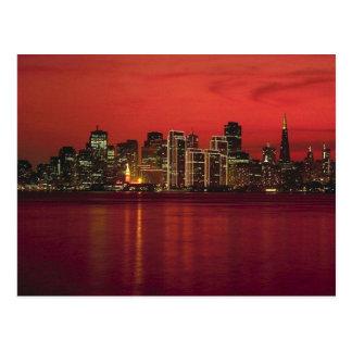 San Francisco Nitetime Skyline Postcard