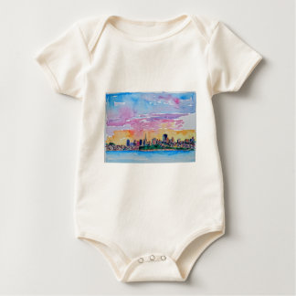 San Francisco of the dawn sunset Baby Bodysuit