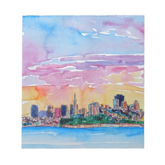 San Francisco of the dawn sunset Notepad