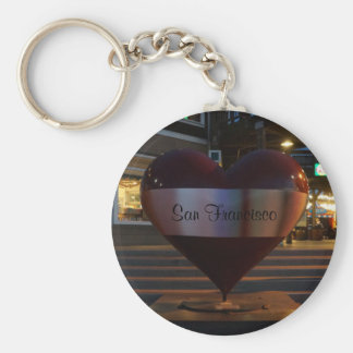 San Francisco Open Heart Keychain