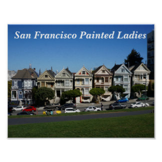 San Francisco Painted Ladies #4 Poster