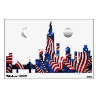 San Francisco Patriotic Skyline Wall Decal