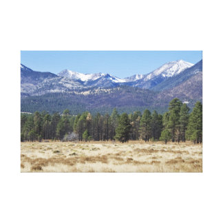 San Francisco Peaks wrapped canvas
