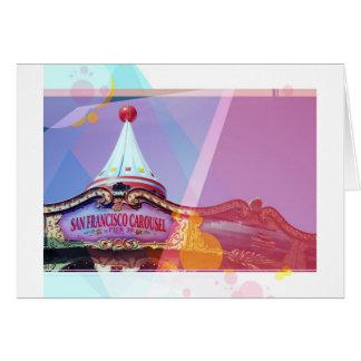 San Francisco Pier 39 Carousel Card