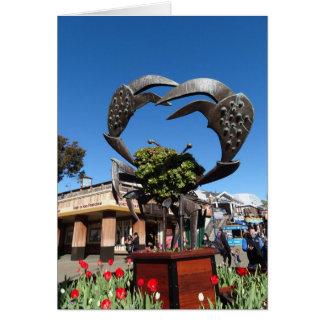 San Francisco Pier 39 Crab Statue Greeting Card