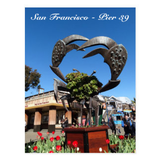 San Francisco Pier 39 Crab Statue Postcard