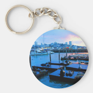 San Francisco Pier 39 Sea Lions #5 Keychain