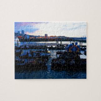 San Francisco Pier 39 Sea Lions #6 Jigsaw Puzzle