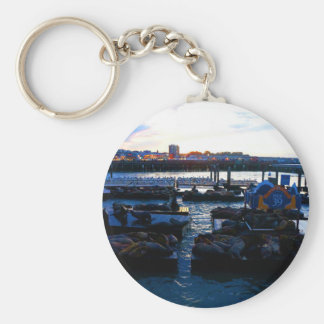 San Francisco Pier 39 Sea Lions #6 Keychain