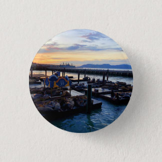 San Francisco Pier 39 Sea Lions #9 Pinback Button