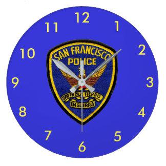San Francisco Police Lsrge Round Clock