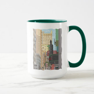 San Francisco-Powell and O'Farrell Sts Coffee Mug