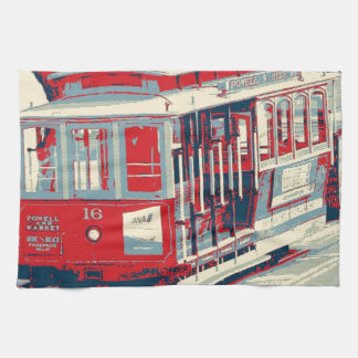 San Francisco,red blue Kitchen Towel