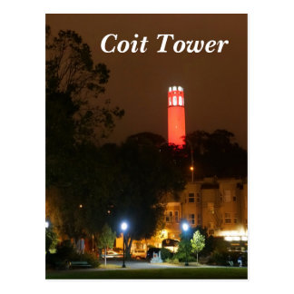 San Francisco Red Coit Tower Postcard
