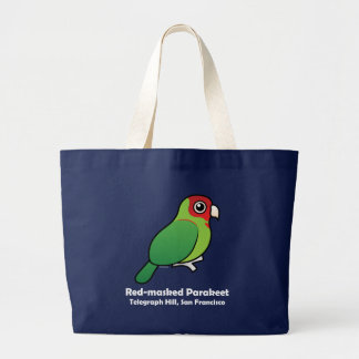 San Francisco Red-masked Parakeet Large Tote Bag