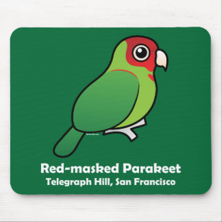 San Francisco Red-masked Parakeet Mouse Pad