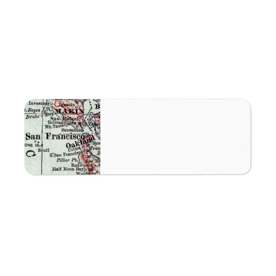 San Francisco Return Address Labels Couples Gift