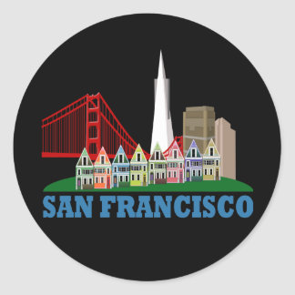 San Francisco Round Sticker