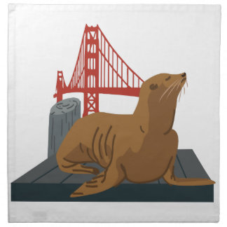 San Francisco Seals Cloth Napkin