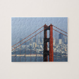San Francisco seen trough Golden Gate Bridge. Jigsaw Puzzle