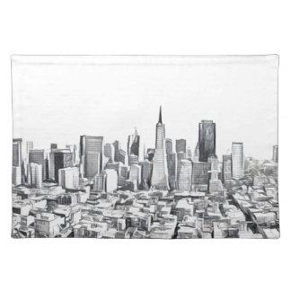 San Francisco SF Citiscape Photograph Placemats
