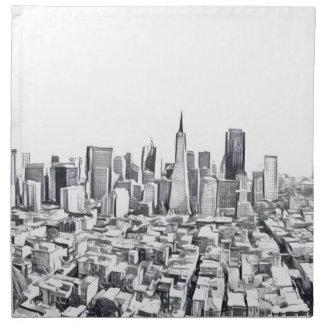 San Francisco SF Citiscape Photograph Printed Napkins