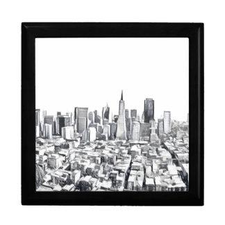 San Francisco SF Citiscape Photograph Trinket Boxes