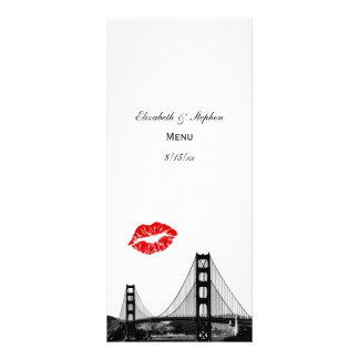 San Francisco Skyline 2 Kiss Menu Card Rack Cards