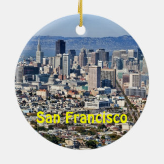 San Francisco Skyline 2 Sided Holiday Ornament