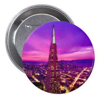 San Francisco Skyline 3 Inch Round Button