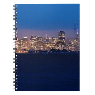 San Francisco Skyline at Dusk Spiral Notebooks