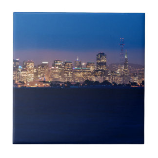 San Francisco Skyline at Dusk Tiles