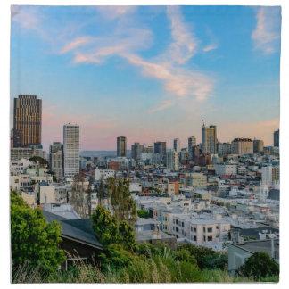 San Francisco Skyline at Sunset Napkin
