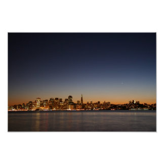 San Francisco Skyline at Sunset Poster