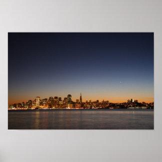 San Francisco Skyline at Sunset Poster