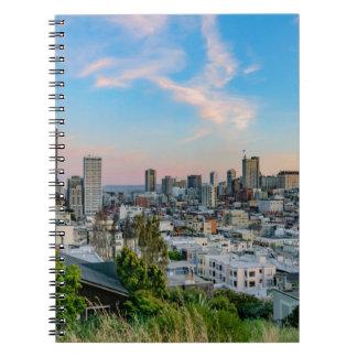 San Francisco Skyline at Sunset Spiral Note Books