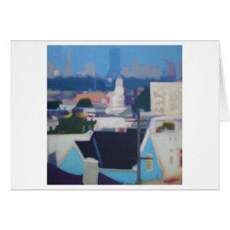 San Francisco Skyline (blue) Card