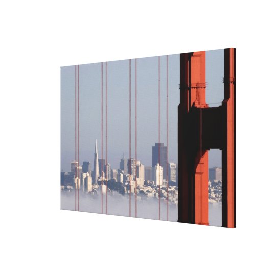 San Francisco Skyline from Golden Gate Bridge. Canvas Print